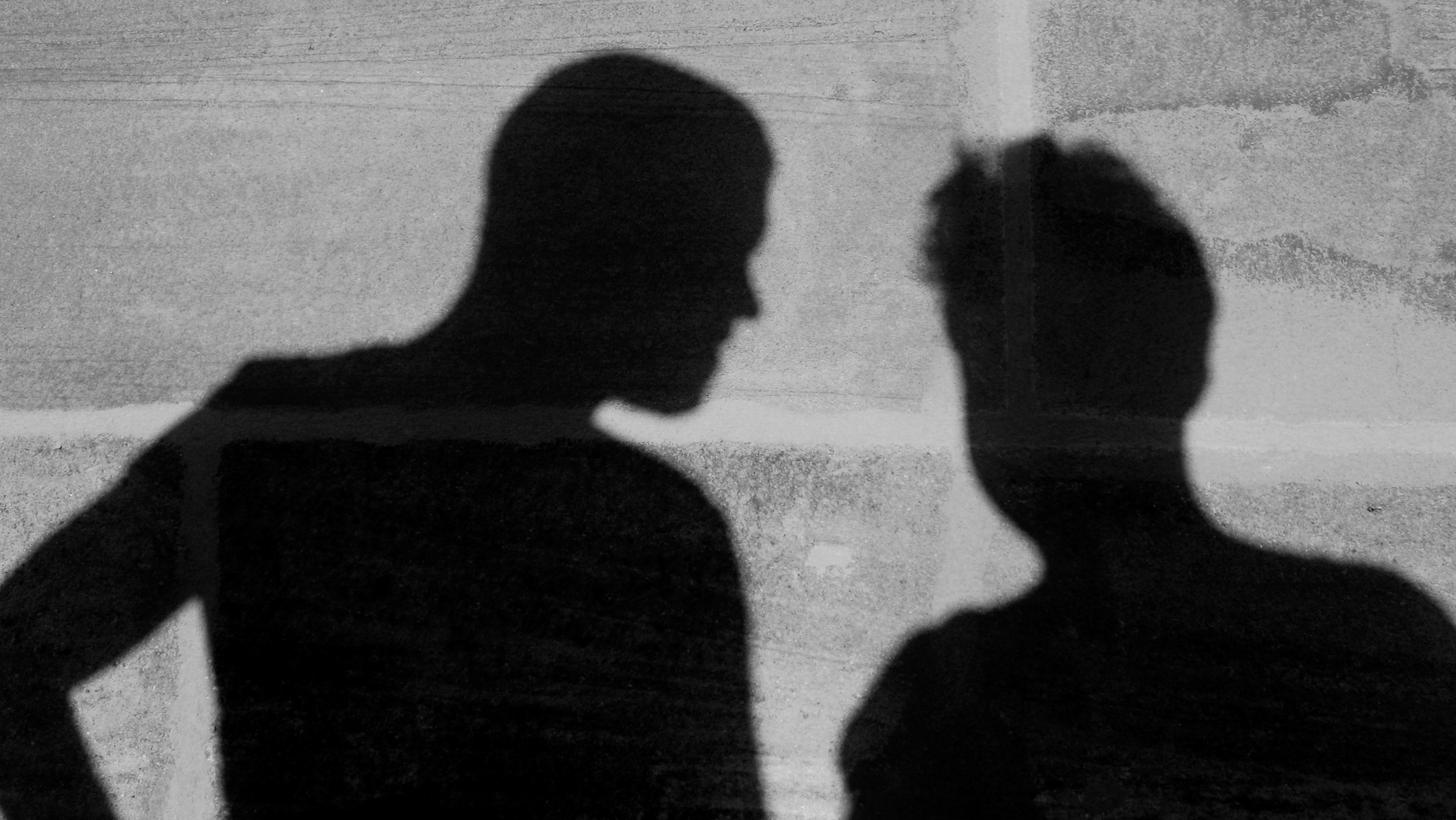 Schatten in schwarzweiss für Header